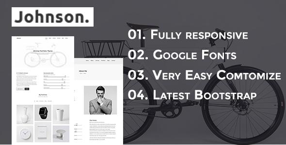 JHONSON - Minimal Portfolio HTML5 Responsive Template