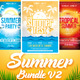 Summer Bundle Flyers Template V2 - GraphicRiver Item for Sale