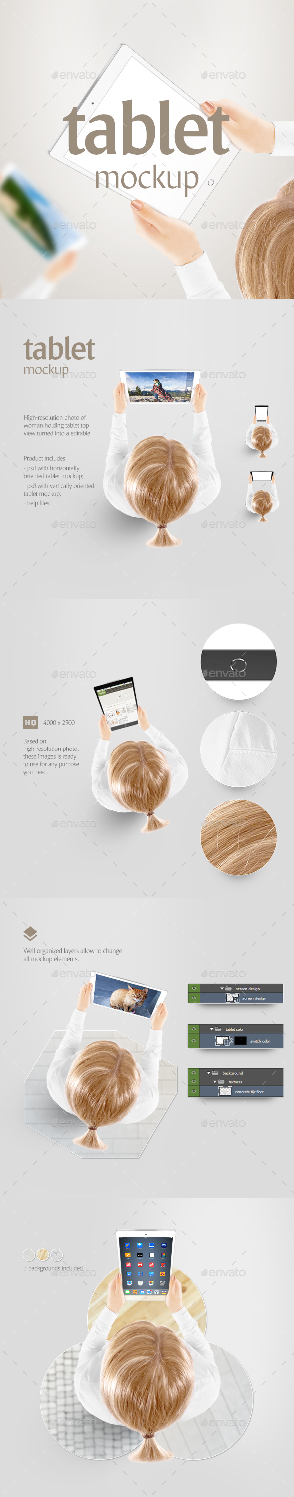 Tablet Mockup - Displays Product Mock-Ups