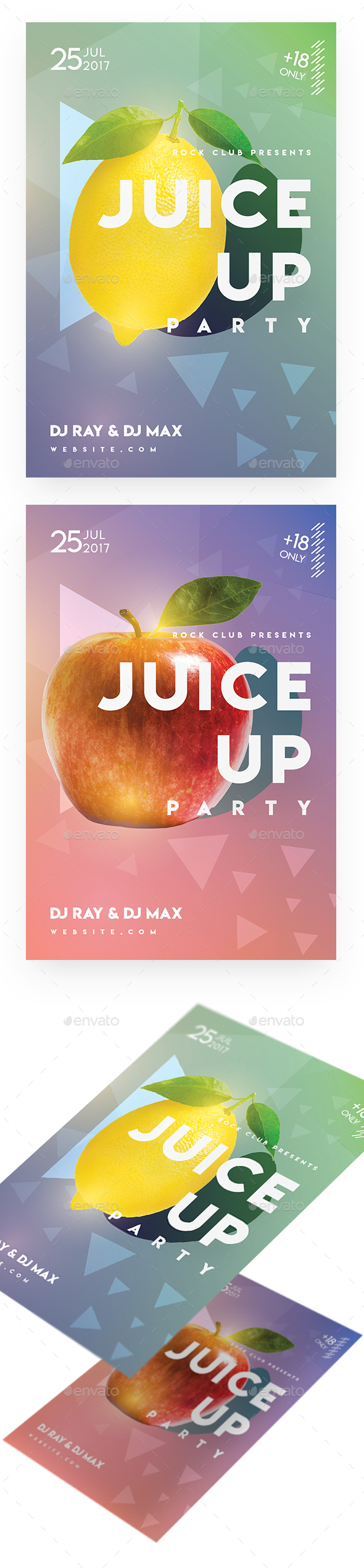 Juice Up Party Flyer - Clubs & Parties Events