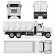 Dump Truck Vector Template