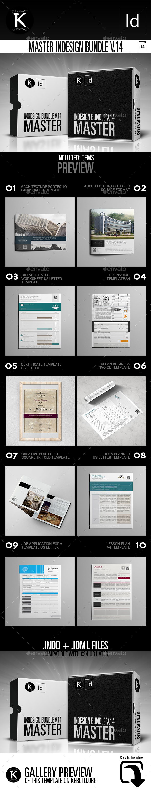 Master inDesign Bundle v.14 - Print Templates