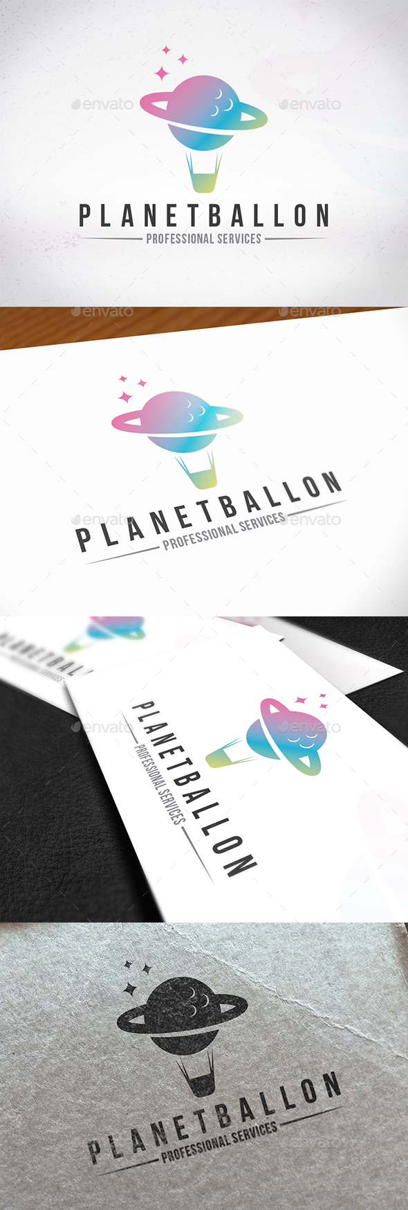 Planet Ballon Logo Template - Symbols Logo Templates