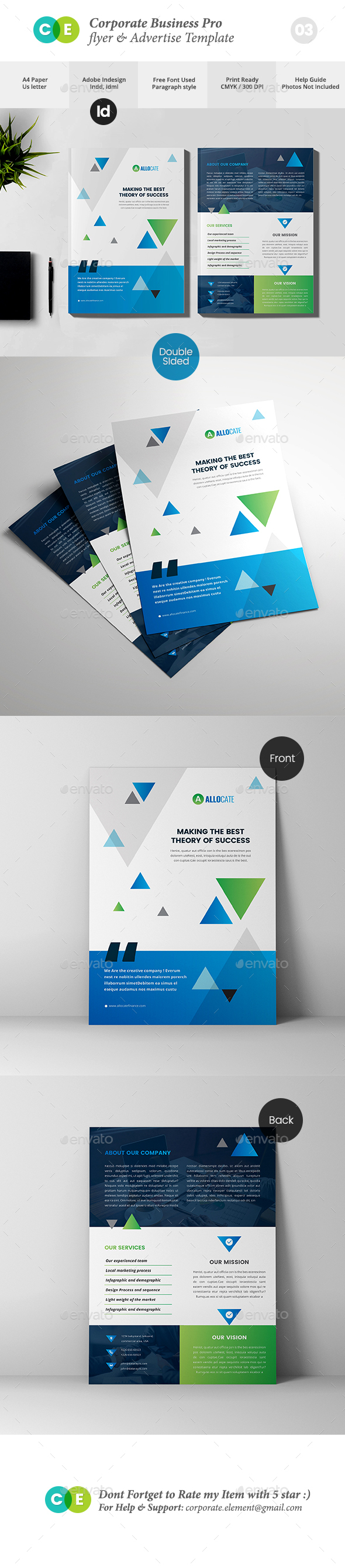 Corporate Business Pro Double Sided Flyer V03 - Corporate Flyers