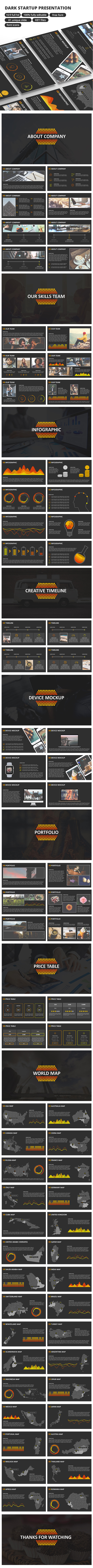 Dark StartUp - Keynote Presentation - Business Keynote Templates