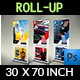 Trade Show Signage Banner Roll Up Template