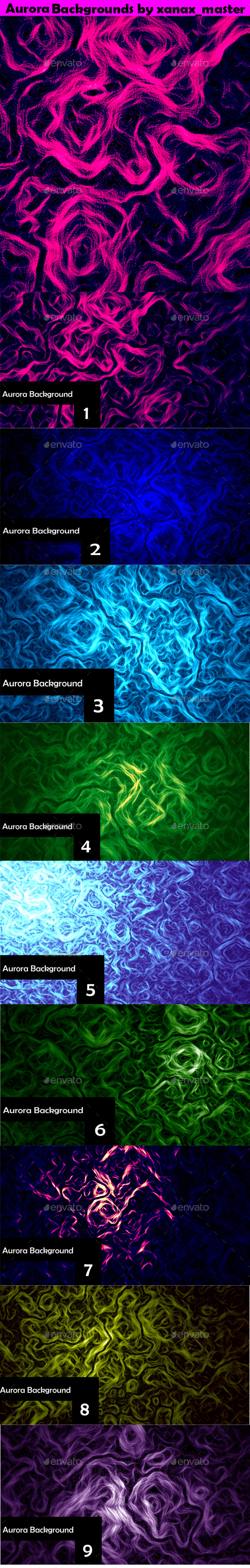 Aurora Backgrounds - Abstract Backgrounds