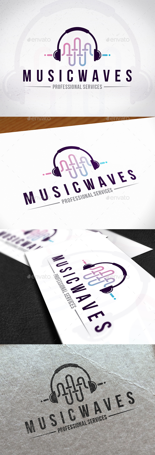 Music Waves Creative Logo - Symbols Logo Templates