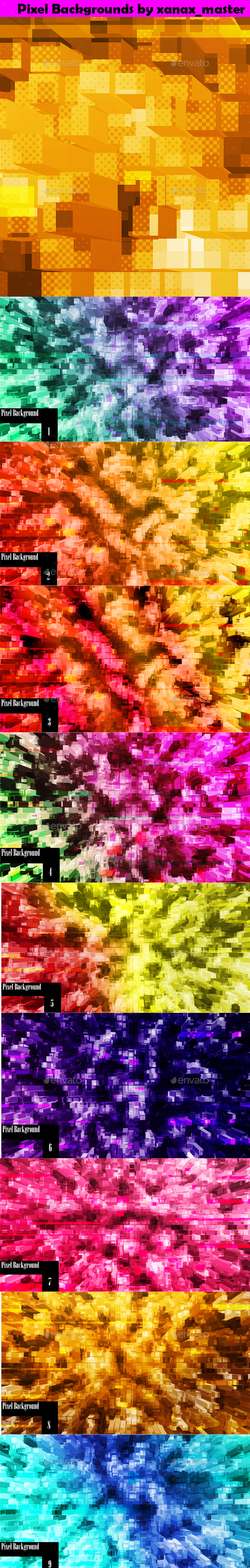 Pixel Backgrounds - Backgrounds Graphics