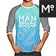 Raglan 3/4 Shirt Mock-up - GraphicRiver Item for Sale