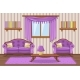 Set Cartoon Cushioned Furniture, Violet Living - GraphicRiver Item for Sale