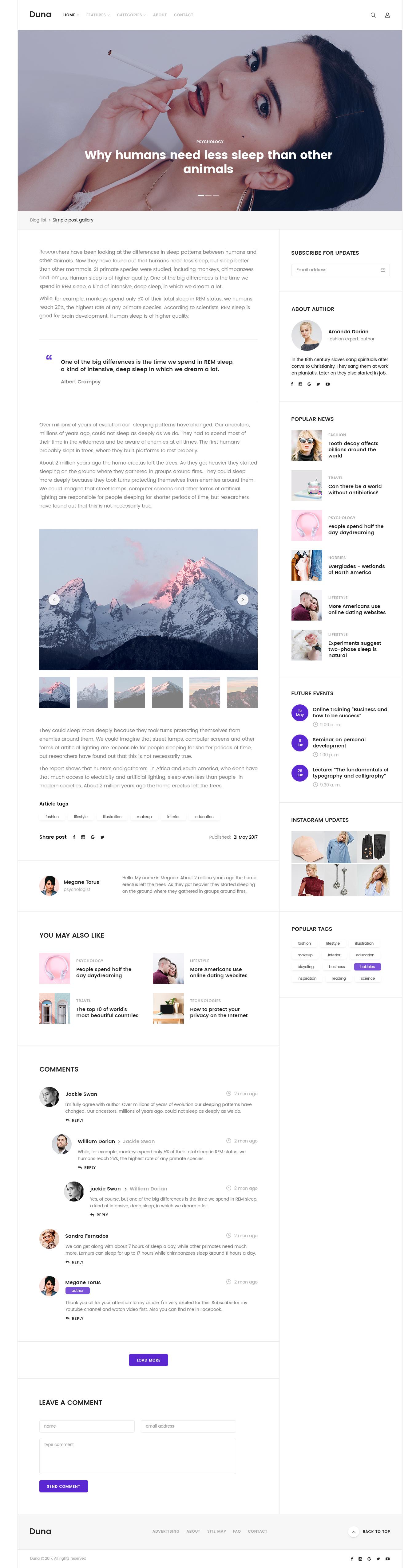 Duna - Blog & Magazine Template