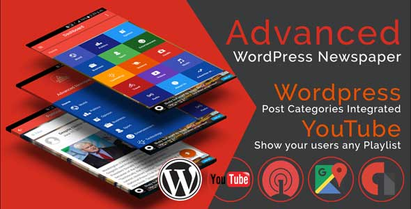 Advanced WordPress Newspaper Ionic Template Cordova Plugins Best Scripts