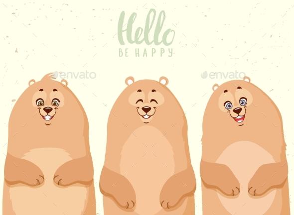 Cartoon Bears - Animals Characters