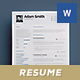 Resume / Cv Template - Word And Indesign - GraphicRiver Item for Sale