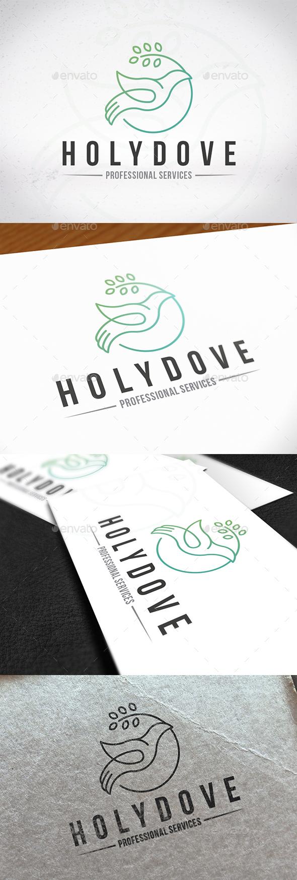 Holy Spirit Dove Logo - Animals Logo Templates