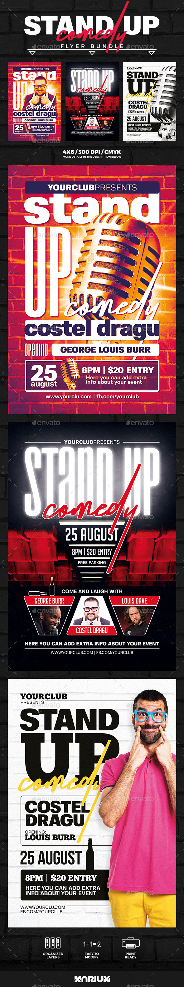 Stand Up Comedy Flyer Bundle - Events Flyers
