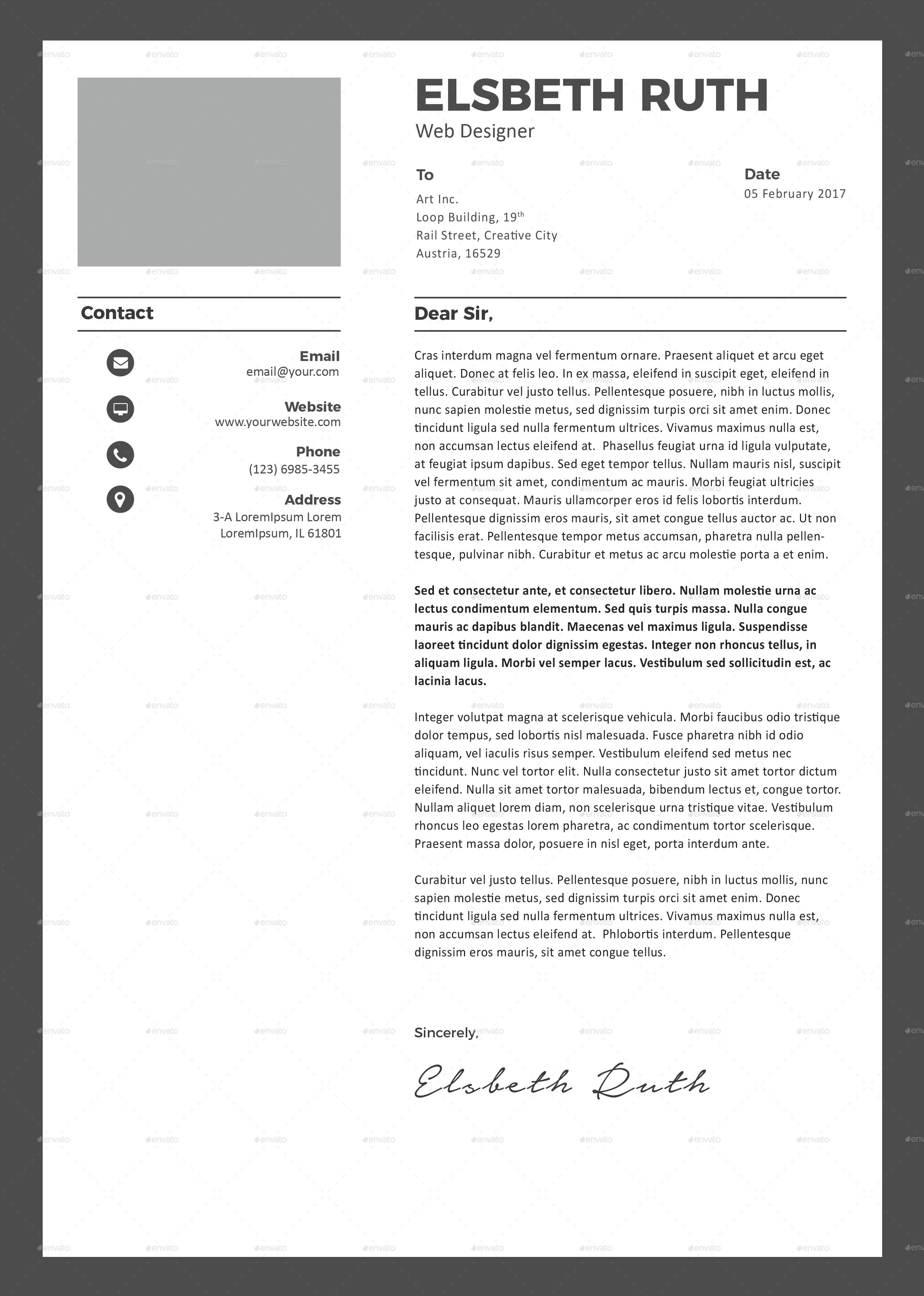 Application letter paper size - Save time! Outline your