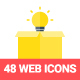 48 Flat Web and Seo Icons - GraphicRiver Item for Sale