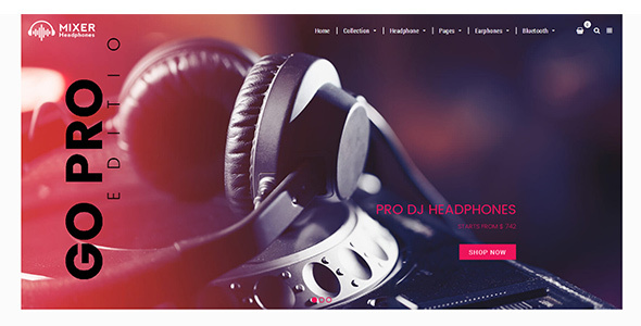 Mixer - Headphone & Audio Sectioned Responsive Shopify Theme