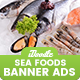 SeaFood Store, Fresh Food Banners Ad - GraphicRiver Item for Sale