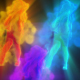 Girl Smoke Dancing DJ VJ Music Event Background Visualization