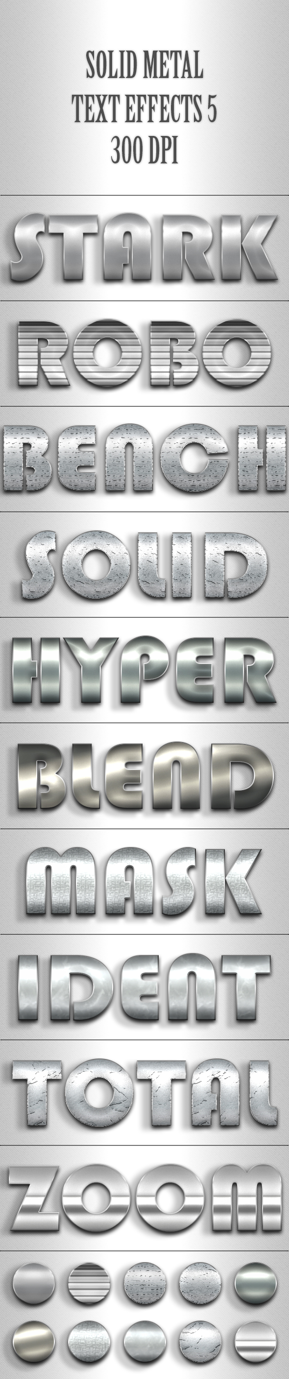 Solid Metal Text Effects 5 - Text Effects Styles