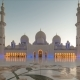 Sunset in Sheikh Zayed Mosque in Abu Dhabi, United Arab Emirates