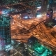 Scenic Aerial  Dubai View of Famous Highway Intersection and Business Bay Skyscrapers - VideoHive Item for Sale