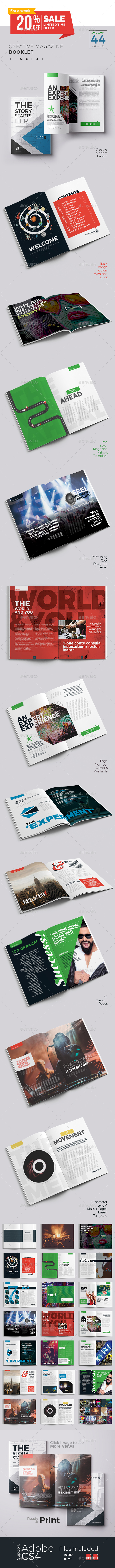 Creative Magazine Booklet Template - Magazines Print Templates