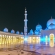 Sheikh Zayed Grand Mosque in Abu Dhabi in the Evening Light - VideoHive Item for Sale