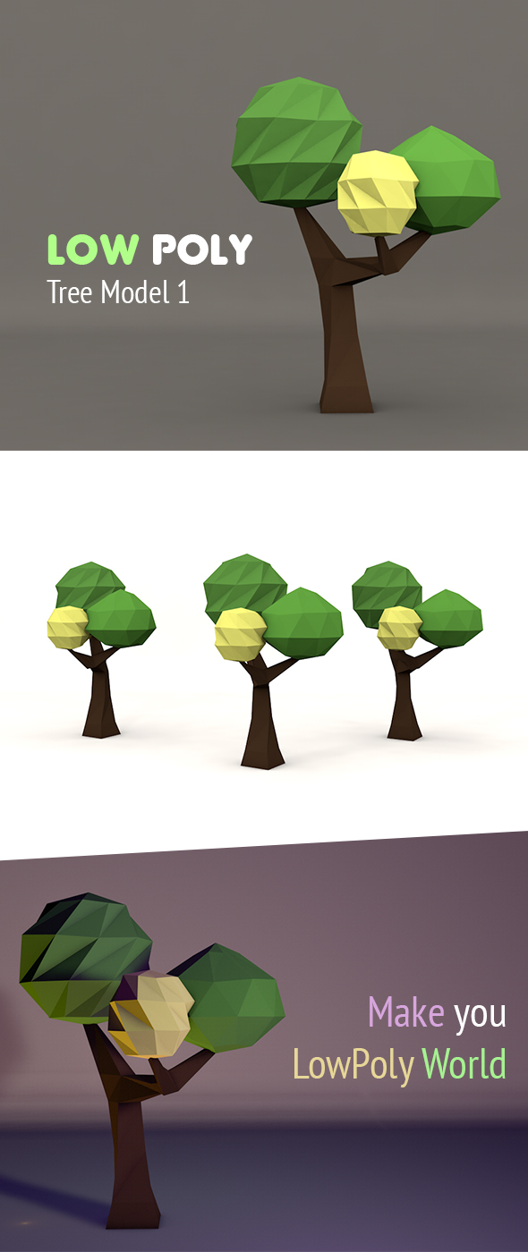 Low Poly Tree (Type 1) - 3DOcean Item for Sale