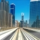 Journey on the Rail Metro, Running Alongside the Sheikh Zayed Road - VideoHive Item for Sale