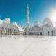 Panoramic View of the Sheikh Zayed Grand Mosque in Abu Dhabi