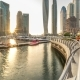 Beautiful Sunset View  at Dubai Marina Skyscapers in Dubai, UAE - VideoHive Item for Sale