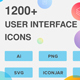 1200+ UI Design Vector Icons Pack - GraphicRiver Item for Sale