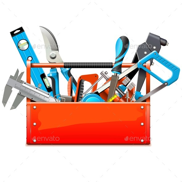 Vector Toolbox with Hand Tools - Industries Business
