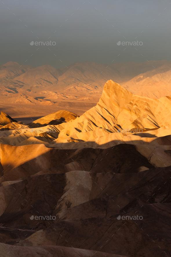 Rugged Badlands Amargosa Mountain Range Death Valley Zabriske Point - Stock Photo - Images