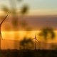 Wind Turbines at Sunset, Green Energy - VideoHive Item for Sale