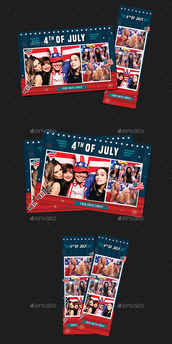 4th of july photo booth template by guuver graphicriver for 4th of july menu template