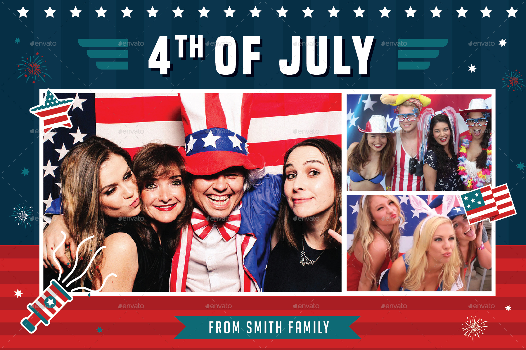 4th Of July Photo Booth Template By Guuver Graphicriver