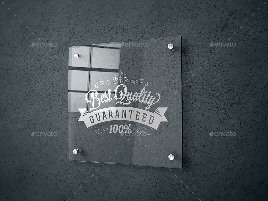 Glass Signage Poster Mockup By Dkgoodart Graphicriver