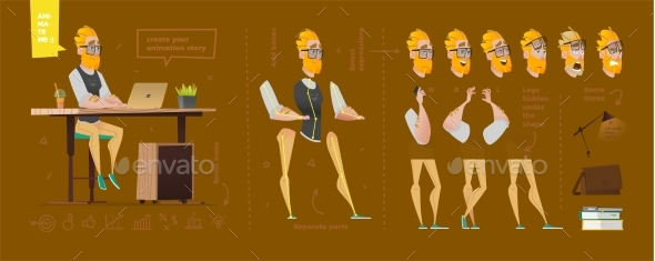 Stylized Characters Set for Animation - People Characters