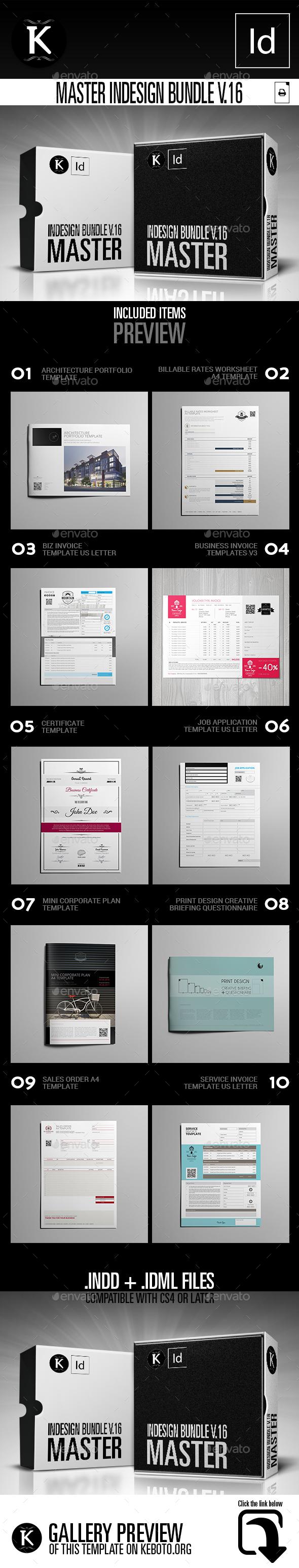 Master inDesign Bundle v.16 - Print Templates