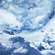 Flying Through a Dark Night Sky With Clouds - VideoHive Item for Sale