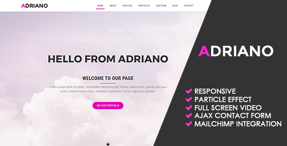 Adriano | Creative Multipurpose Template - Creative Site Templates