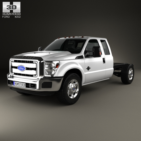 Ford F-450 Super Cab Chassis 2010 - 3DOcean Item for Sale