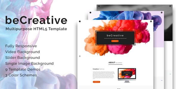 beCreative | Modern Creative Multipurpose Responsive HTML5 Template - Creative Site Templates