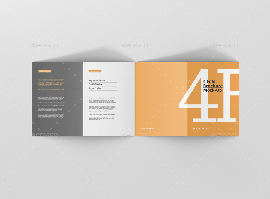Fold Brochure Mockup  Din A A A By Visconbiz  Graphicriver
