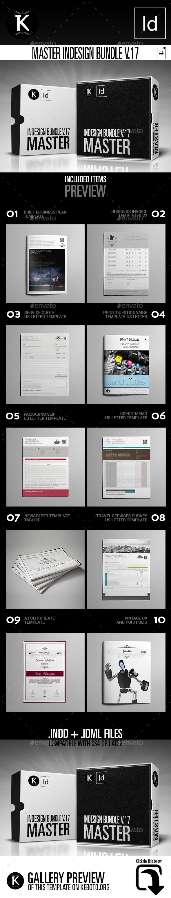 Master inDesign Bundle v.17 - Print Templates